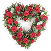 Венок сердце из роз, сердце, розы, цветы, венок.